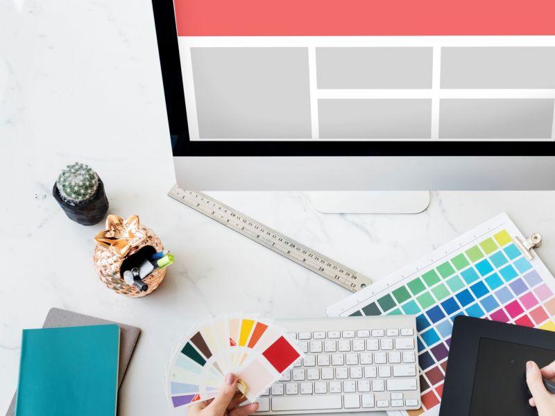 web-design-template-copy-space-concept